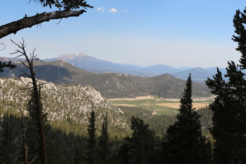 Olancha Peak and Mulkey Meadows from the Pacific Crest Trail