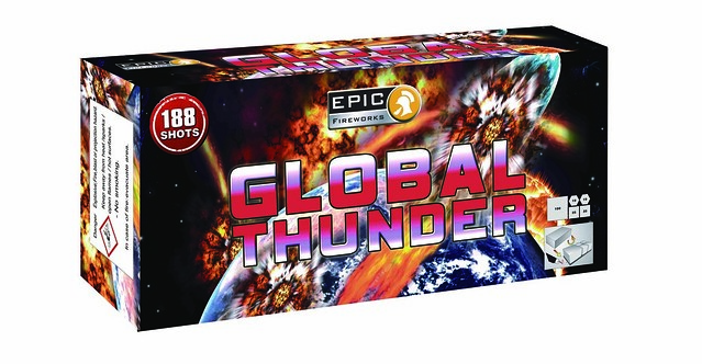Global Thunder 188 Shot Compound Cake #EpicFireworks