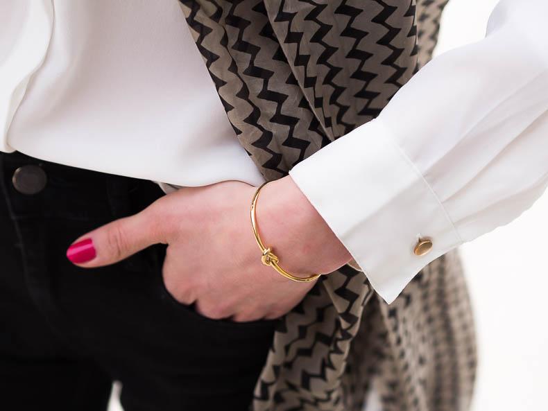 Golden knot bracelet, stella&dot