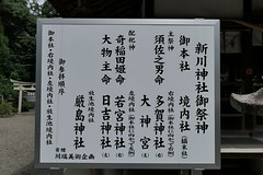 Photo:Sign listing sub-shrines at Niikawa Shrine (新川神社) By Greg Peterson in Japan