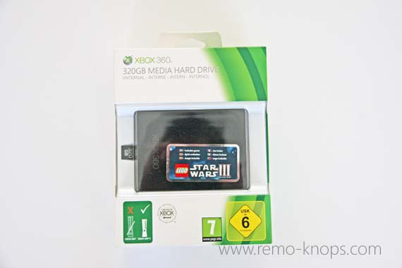 Microsoft Xbox 360 320GB Media Hard Drive 3654