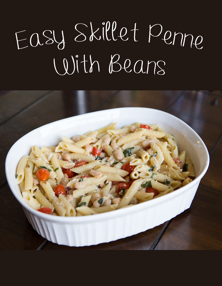 Easy Skillet Penne with Beans