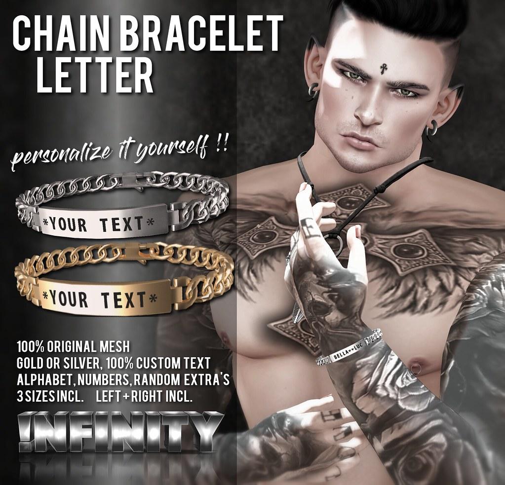 !NFINITY Letter Chain Bracelet - SecondLifeHub.com