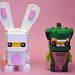 Bunny Suit Guy and Lizard Man Brickheadz by IamKritch