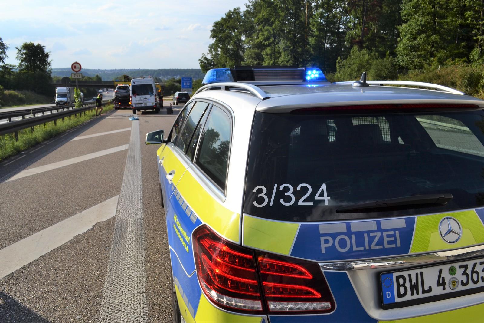 A8 bei Pforzheim: VU mit mehreren Verletzten - 17.07.2017