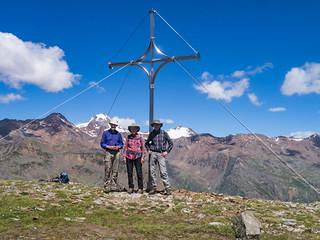 Wandergruppe am Tascheljöchl, 2.772 m