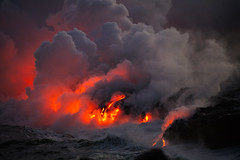 Lavaflow into the Ocean