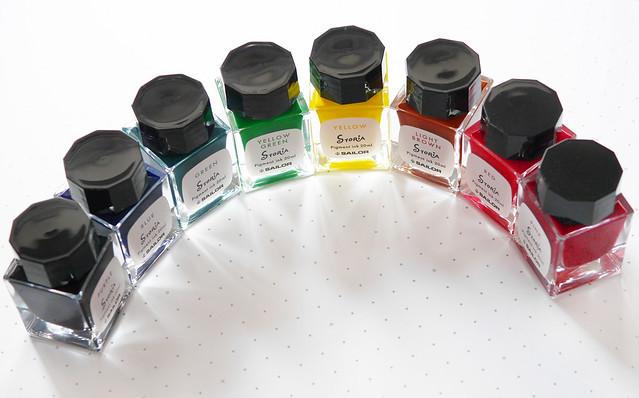 セーラー万年筆 超微粒子 顔料インク STORiA セット ストーリア 耐水インク 4901680183969