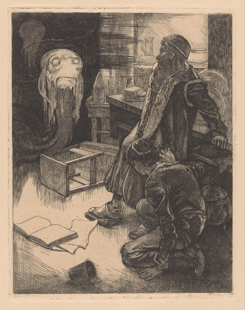 Johannes Josephus Aarts - Two men and a  monster in a workroom