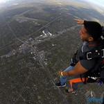 view from the plane while skydiving