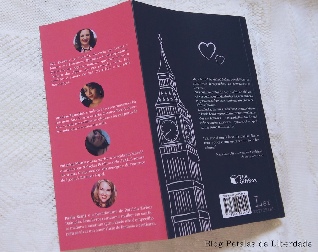 Resenha, livro, Love-is-in-the-air, contos, londres, ler-editorial, opiniao, critica, literatura-nacional, antologia, romance-hot, eva-zooks, tamires-barcellos, catarina-muniz, paola-scott, fotos, capa, trechos