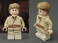 Custom Young Anakin Skywalker - Short Movable Legs  //1