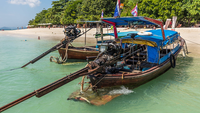 Thai boats on Ko Rang Yai