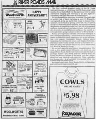 River Roads Mall newspaper ad (1979)