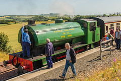 Bo'ness & Kinneil Railway - NCB (060ST) Engine No 9 & Engineer 4