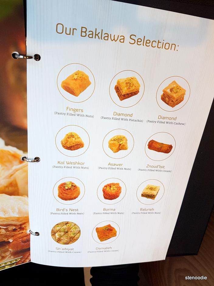 Paramount Fine Foods Baklava menu