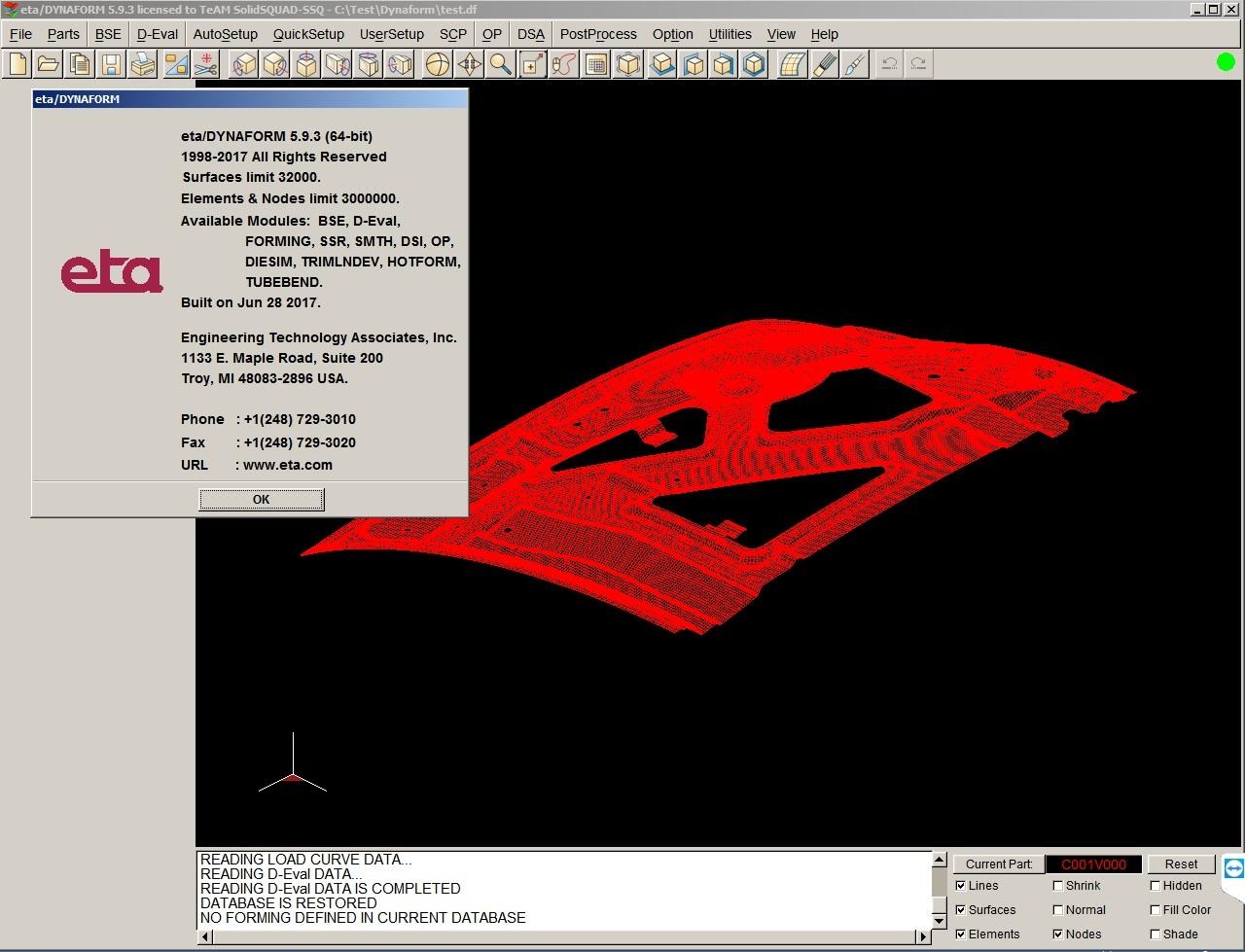 Working with ETA Dynaform 5.9.3 full license