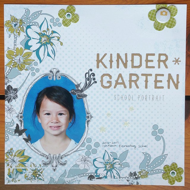 Evelyn's Kindergarten School Portrait Layout | shirley shirley bo birley Blog