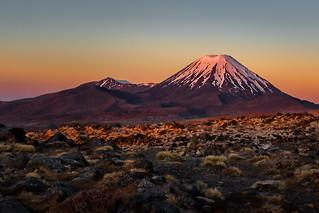 Mt Ngauruhoe volcano