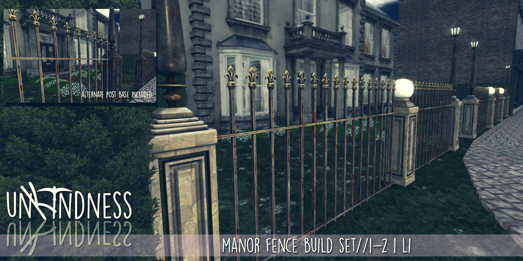 uK - Manor Fence Set - FaMESHed - SecondLifeHub.com