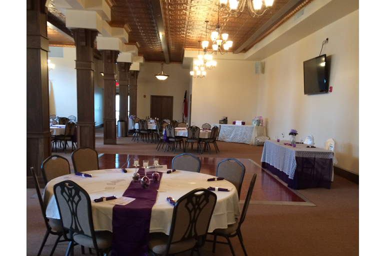 Wedding Reception with Dance Floor in Background