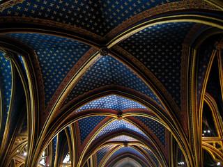 Ceiling in the Lower Sainte-Chapelle, Paris