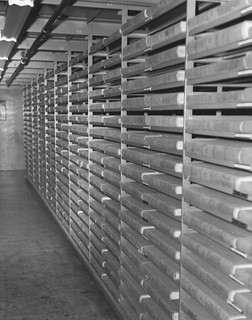 Photograph of Stack Area in the National Archives Building