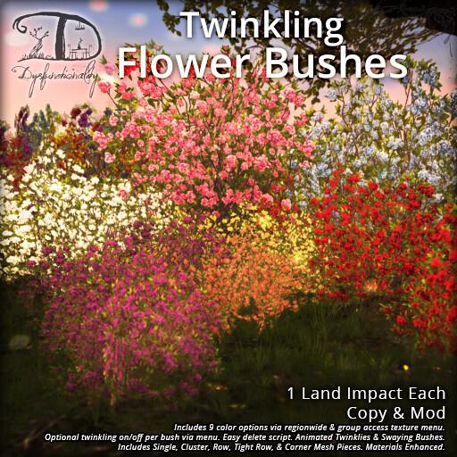 Twinkling Flower Bushes - TeleportHub.com Live!