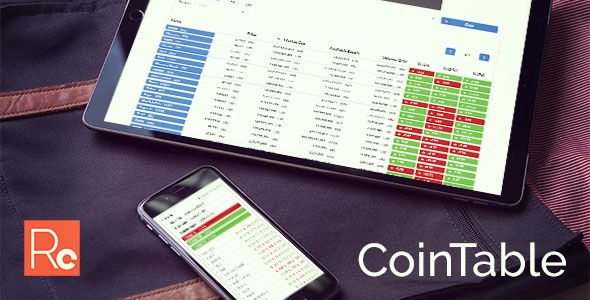 Coin Table – Cryptocurrency Market CMS