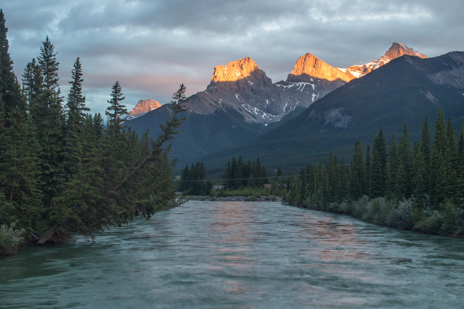 Sunset over the Three Sisters, Canmore