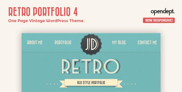Retro Portfolio v4.9.2 – One Page Vintage WordPress Theme