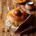 Orange Brioche with Chocolate&Hazelnut Filling