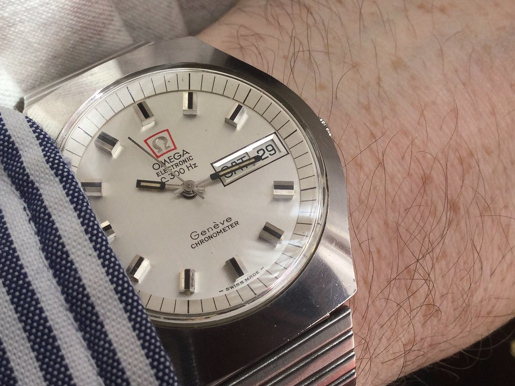 Omega Geneve f300 stainless steel