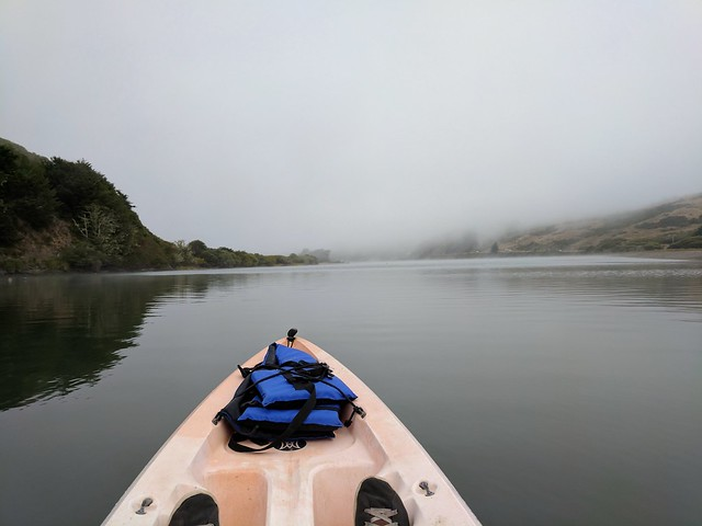 Foggy morning kayaking
