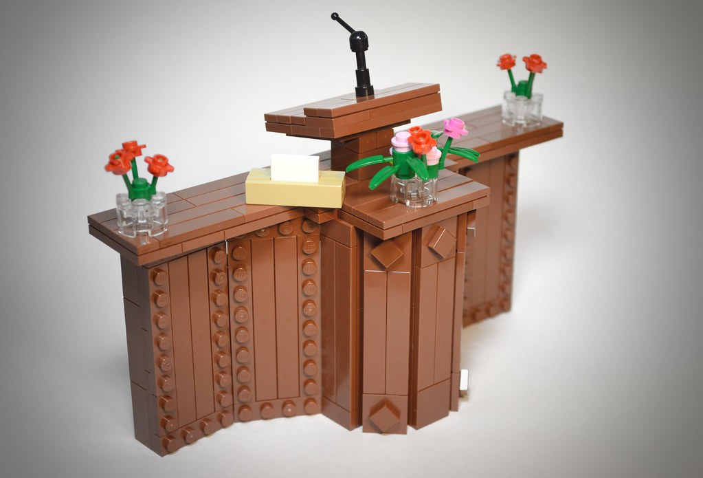 Chapel Pulpit (custom built Lego model)