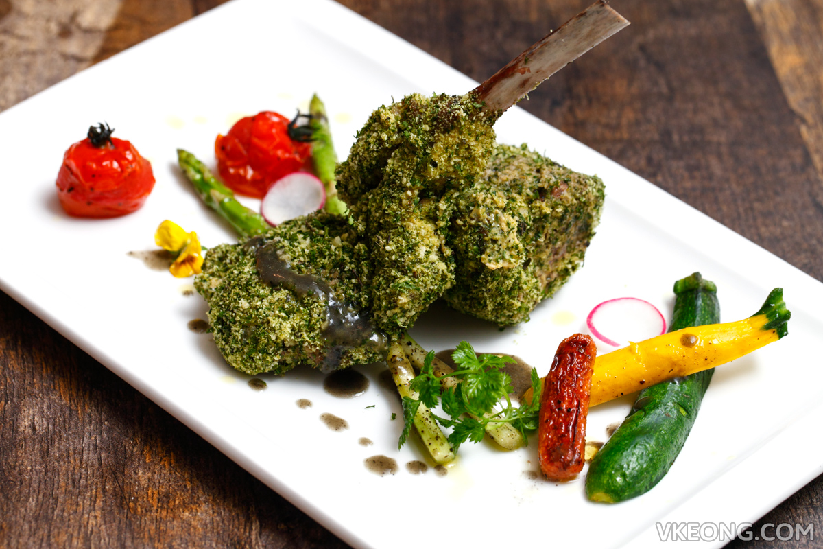 El Iberico Herb Crusted Lamb Rack