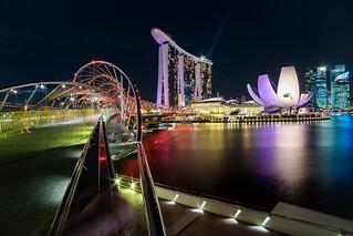 Marina Bay Sands and DNA bridge