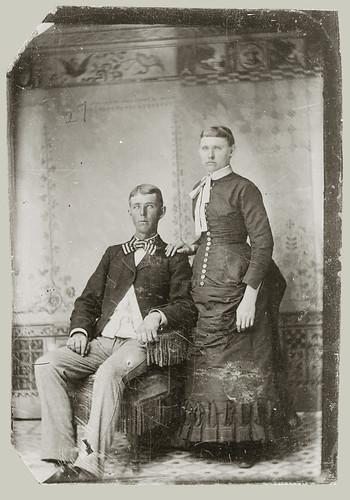 Tintype portrait of a couple