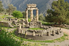 Remains of a temple (Delphi, Greece)