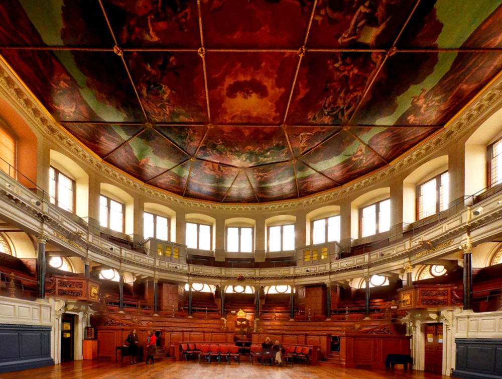 Sheldonian Theatre, Oxford - interior. Credit Baz Richardson
