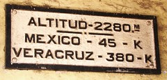 Ferrocarril Mexicano -  Former Teotihuacan Passenger Station - Altitude 2280 Meters