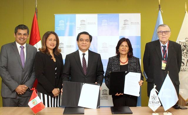 Universidad de San Martín de Porres firmó Convenio Marco de Cooperación Interinstitucional con la UNESCO