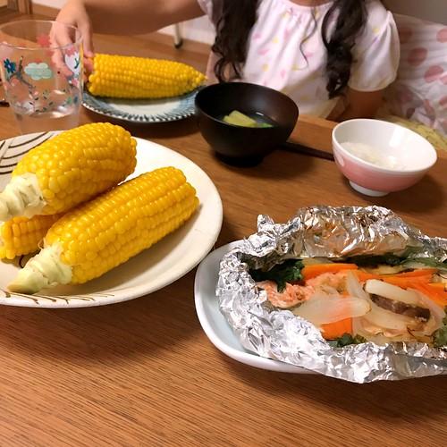 退院後初の家族との夕食