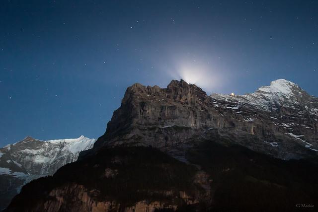 Eiger Moonrise, Canon EOS 760D, Sigma 10-20mm f/3.5 EX DC HSM
