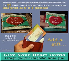 Give Your Heart Cards with a gift pouch - I show one done