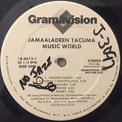 JAMAALADEEN TACUMA:MUSIC WORLD(LABEL SIDE-B)