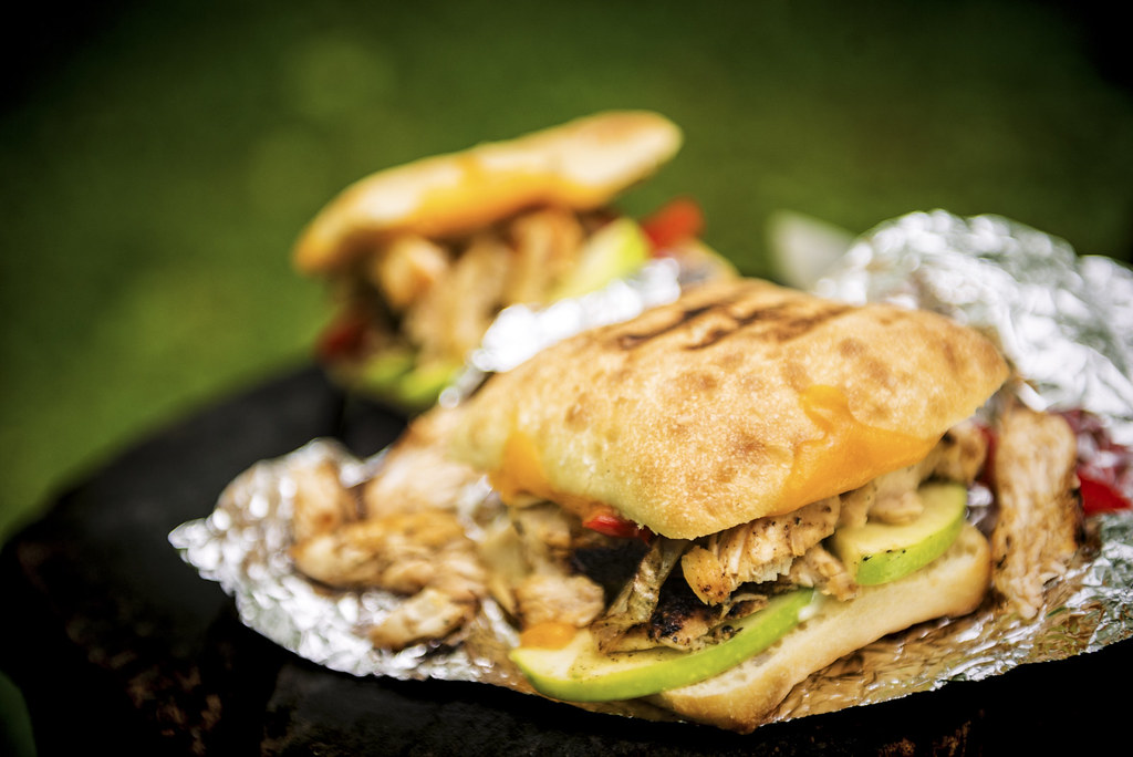 Campfire Grilled Chicken Panini