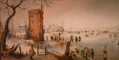 Hendrick Avercamp - Skating Near a Town, 1620 at Saint Louis Art Museum - St Louis MO
