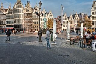 Grote Markt Antwerpen with guild houses
