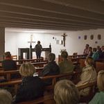 Visiting St Mungo's Church, Cumbernauld on walking tour | © Robin Mair